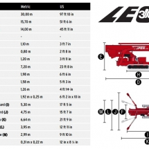Teopen Leo 30T Stowed Dimensions